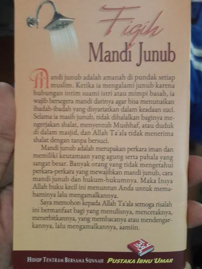 Fiqih Mandi Junub   Berdasarkan Al-Qur'An & As-Sunnah